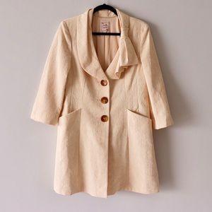 Nanette Lenore Canary Bowtie Jacquard Coat